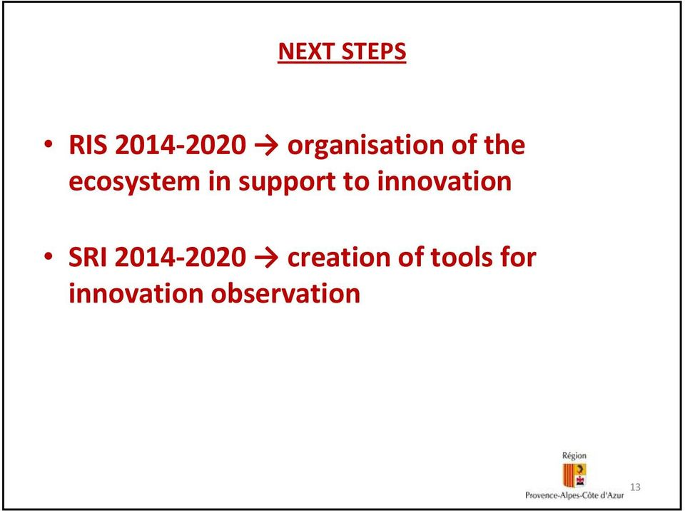 support to innovation SRI 2014 2020