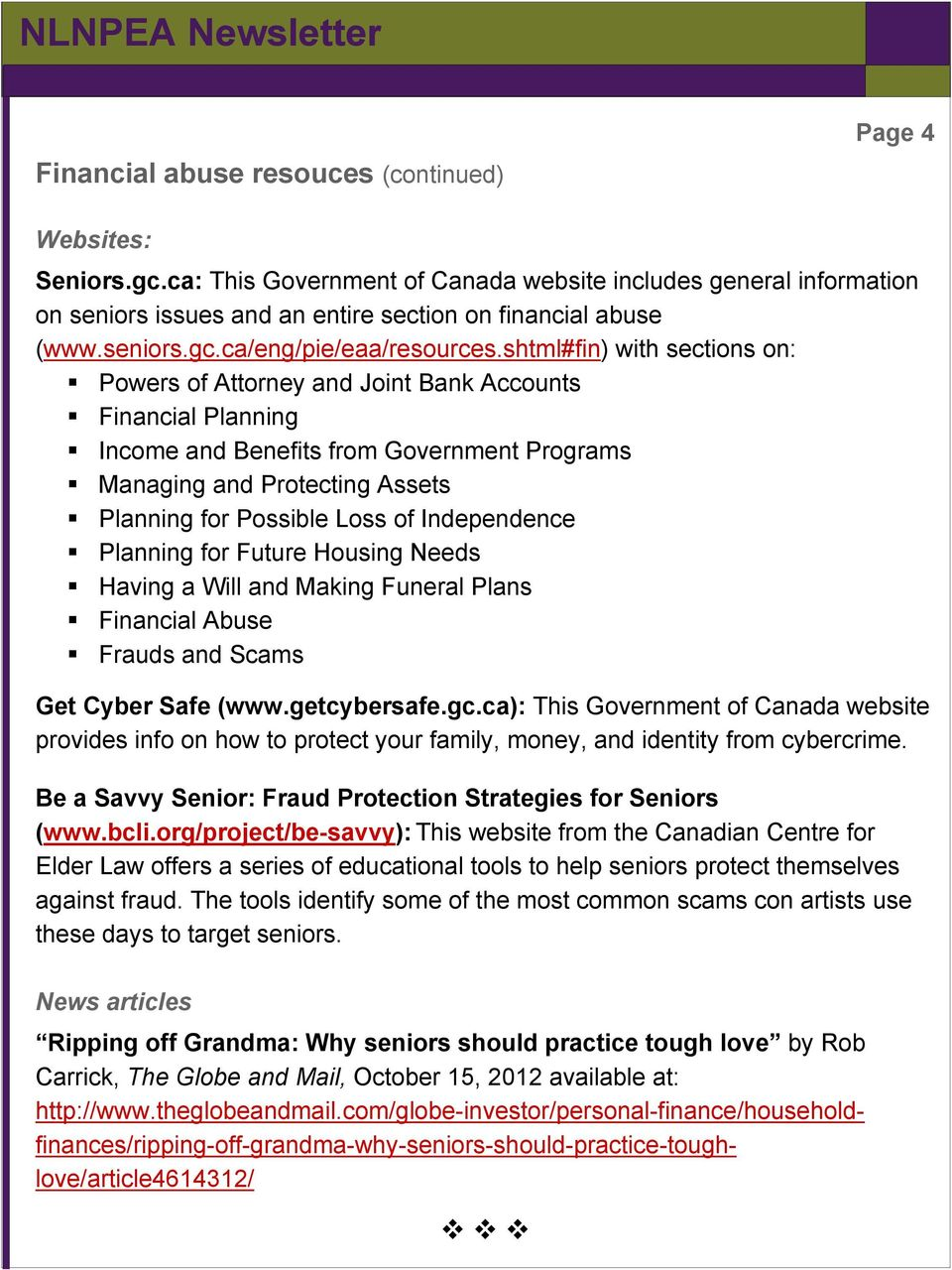 frauds and scams against seniors meet