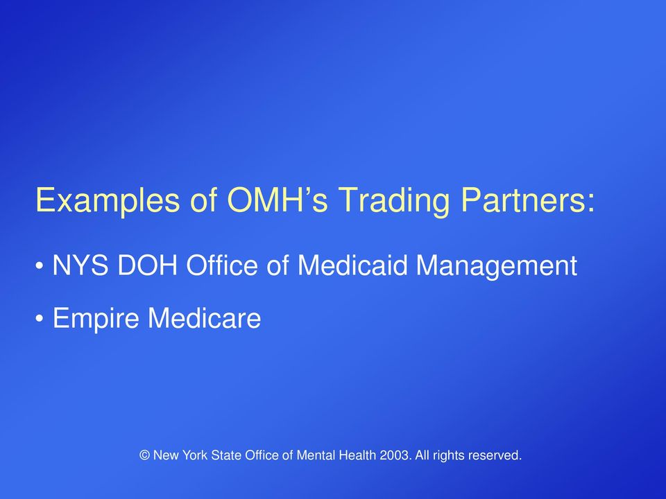 DOH Office of Medicaid