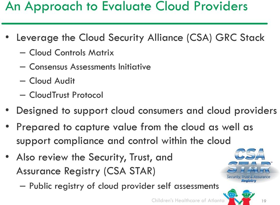 cloud providers Prepared to capture value from the cloud as well as support compliance and control within the