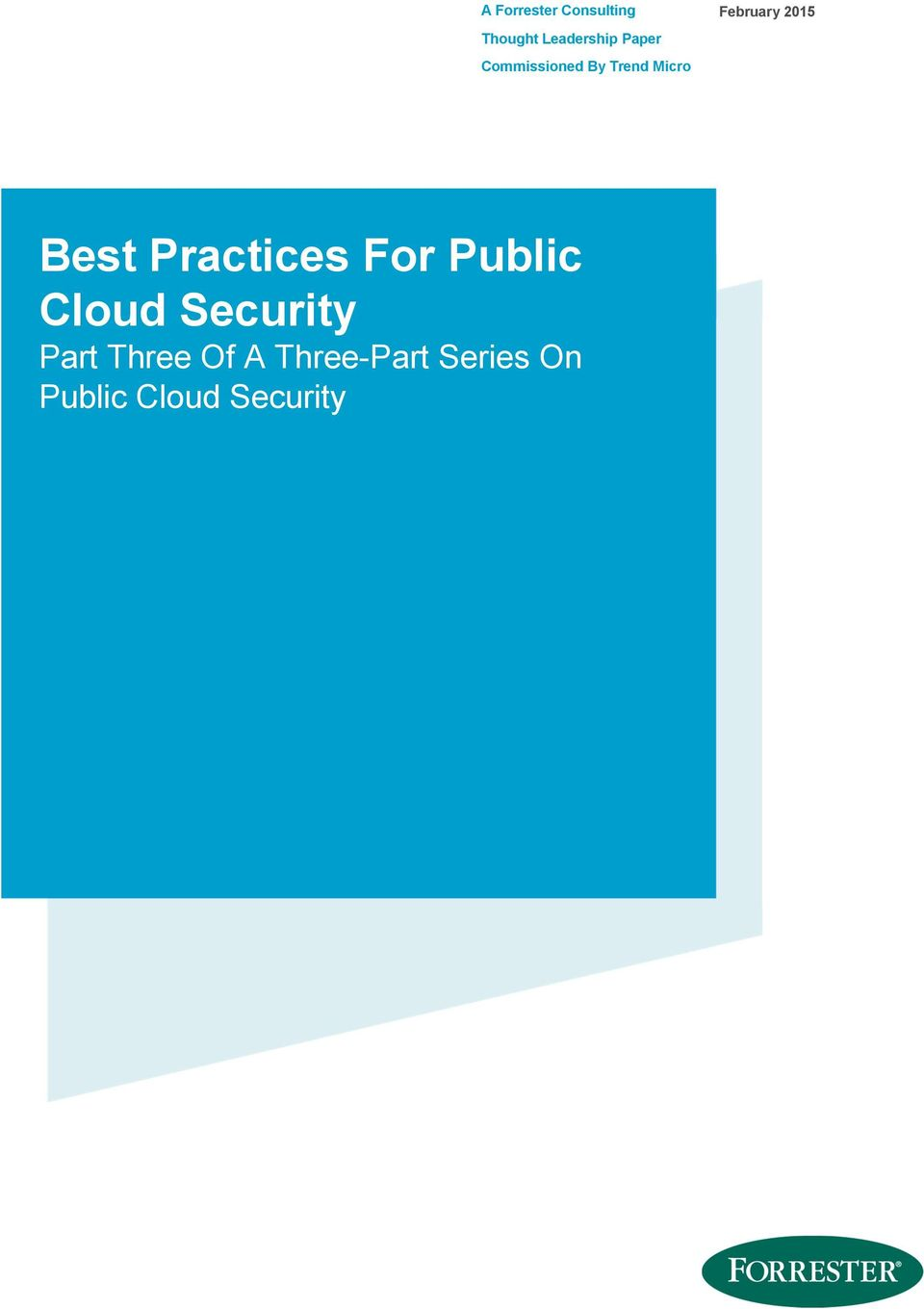 Practices For Public Cloud Security Part Three