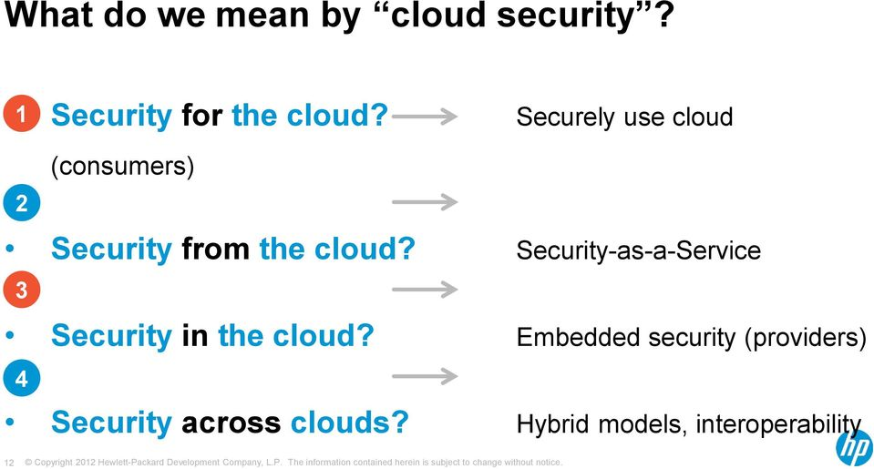 Security-as-a-Service 3 Security in the cloud?