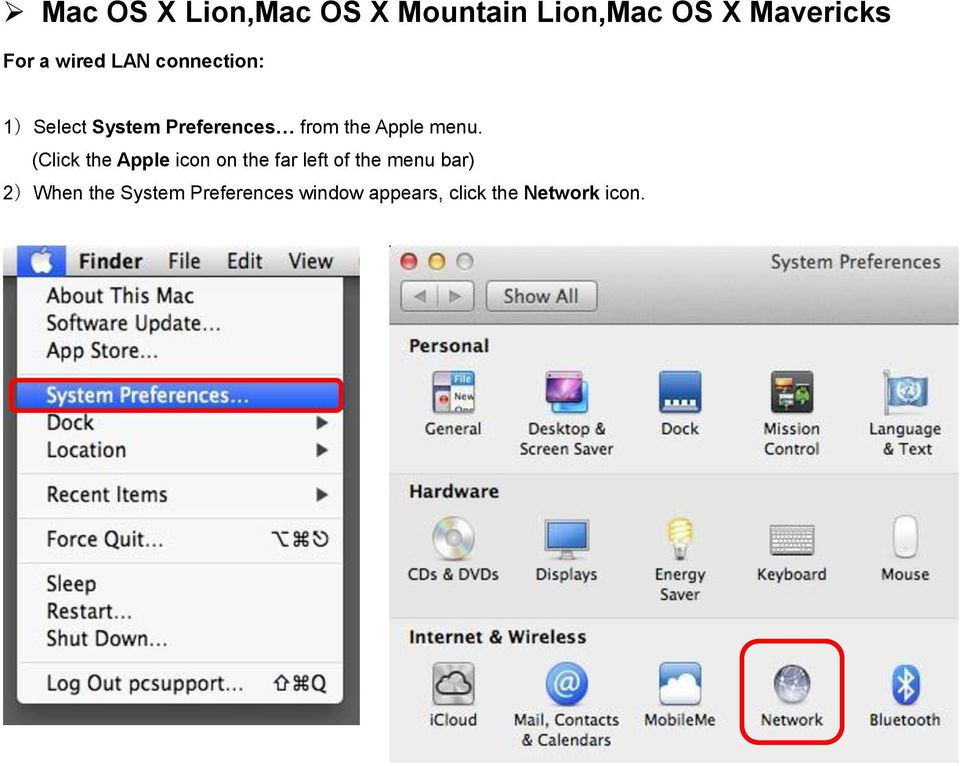 menu. (Click the Apple icon on the far left of the menu bar)