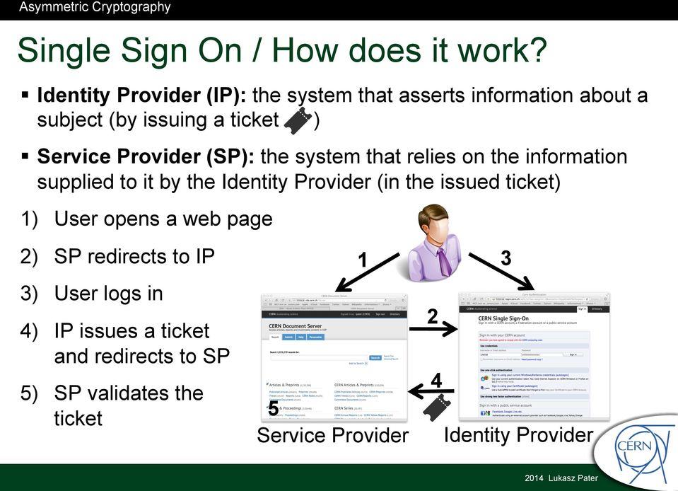 Provider (SP): the system that relies on the information supplied to it by the Identity Provider (in the
