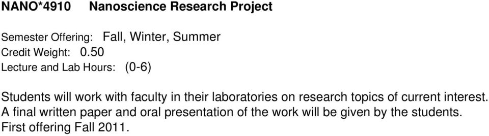 research topics of current interest.
