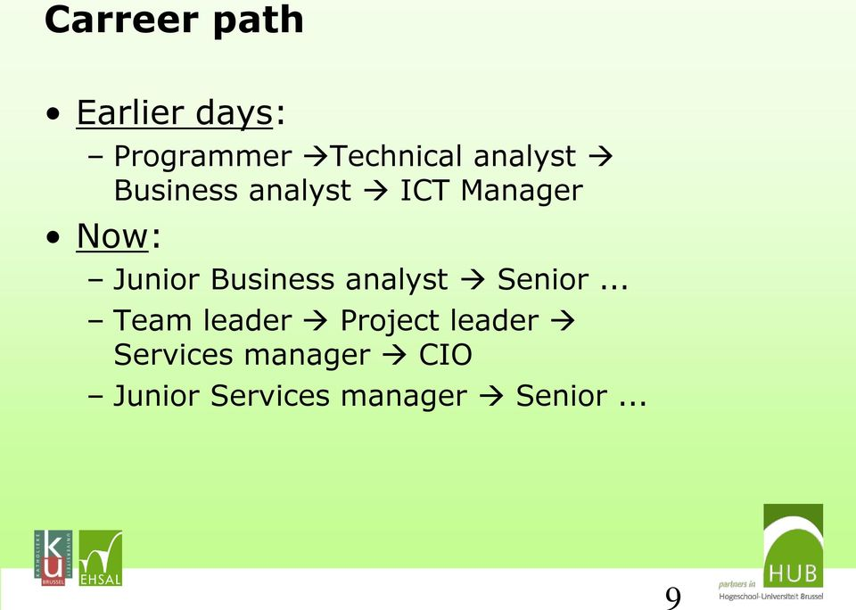 Business analyst Senior.