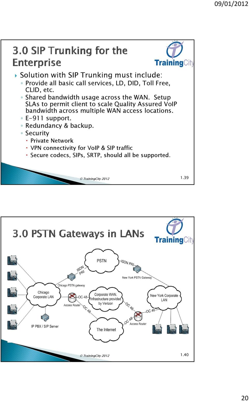 Setup SLAs to permit client to scale Quality Assured VoIP bandwidth across multiple WAN access locations.