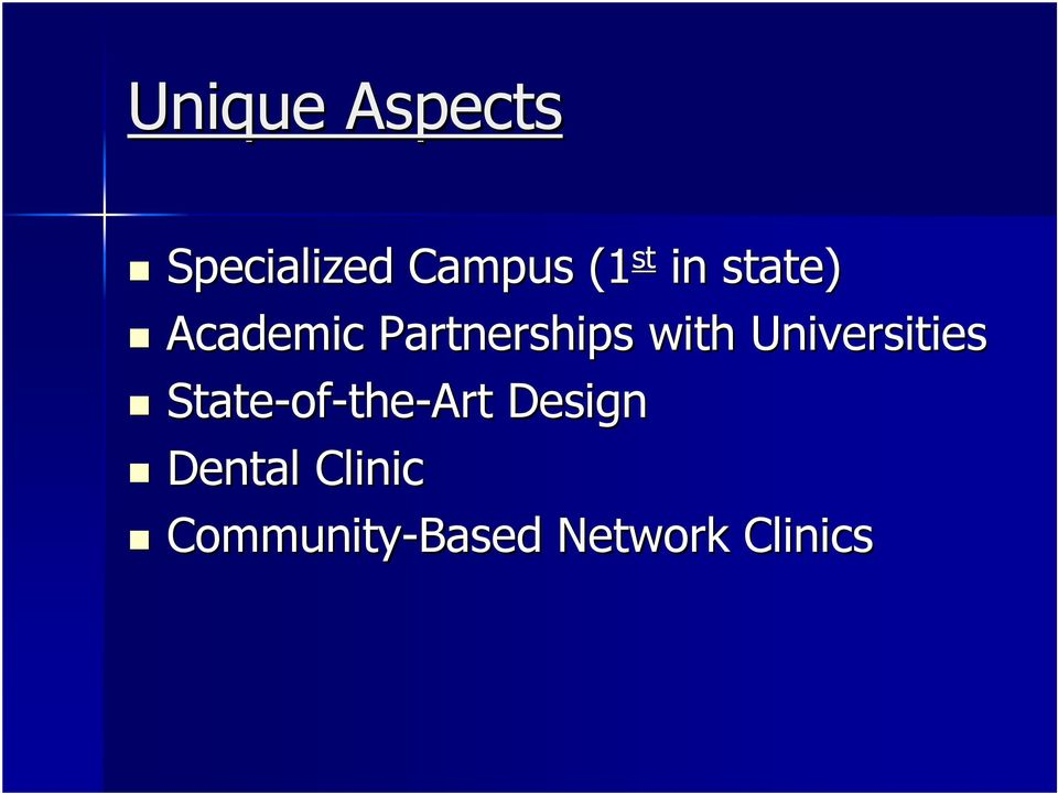 Universities State-of of-the-art Design