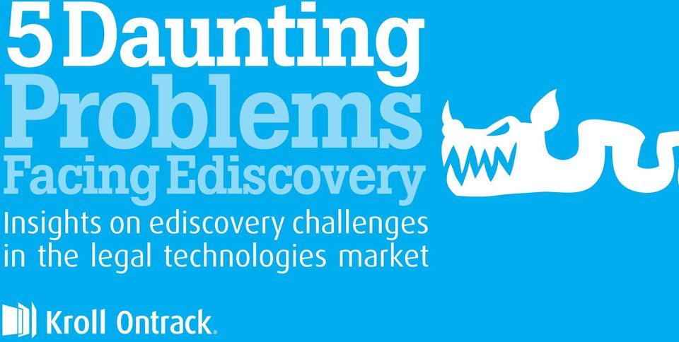 Insights on ediscovery