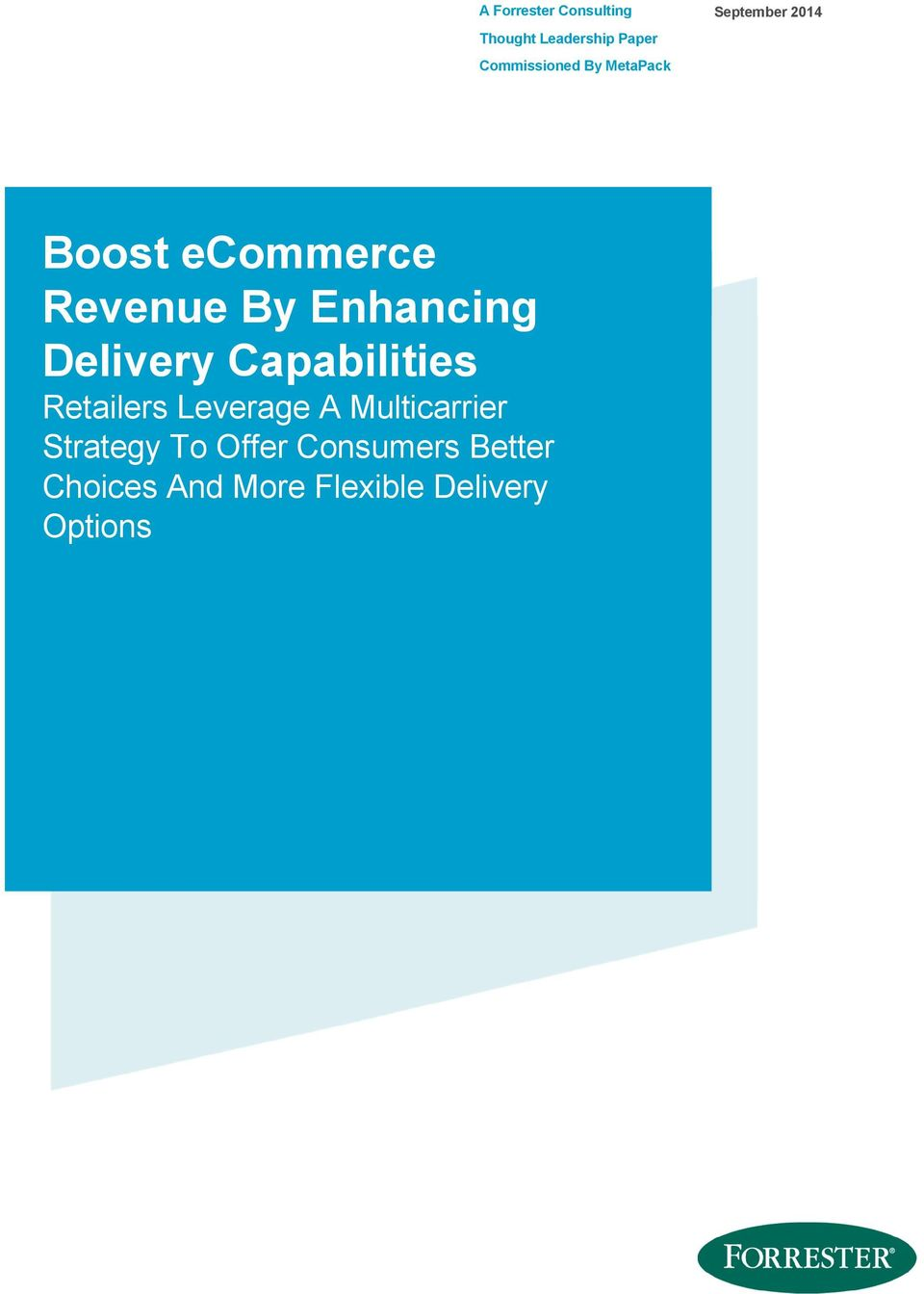 Delivery Capabilities Retailers Leverage A Multicarrier Strategy