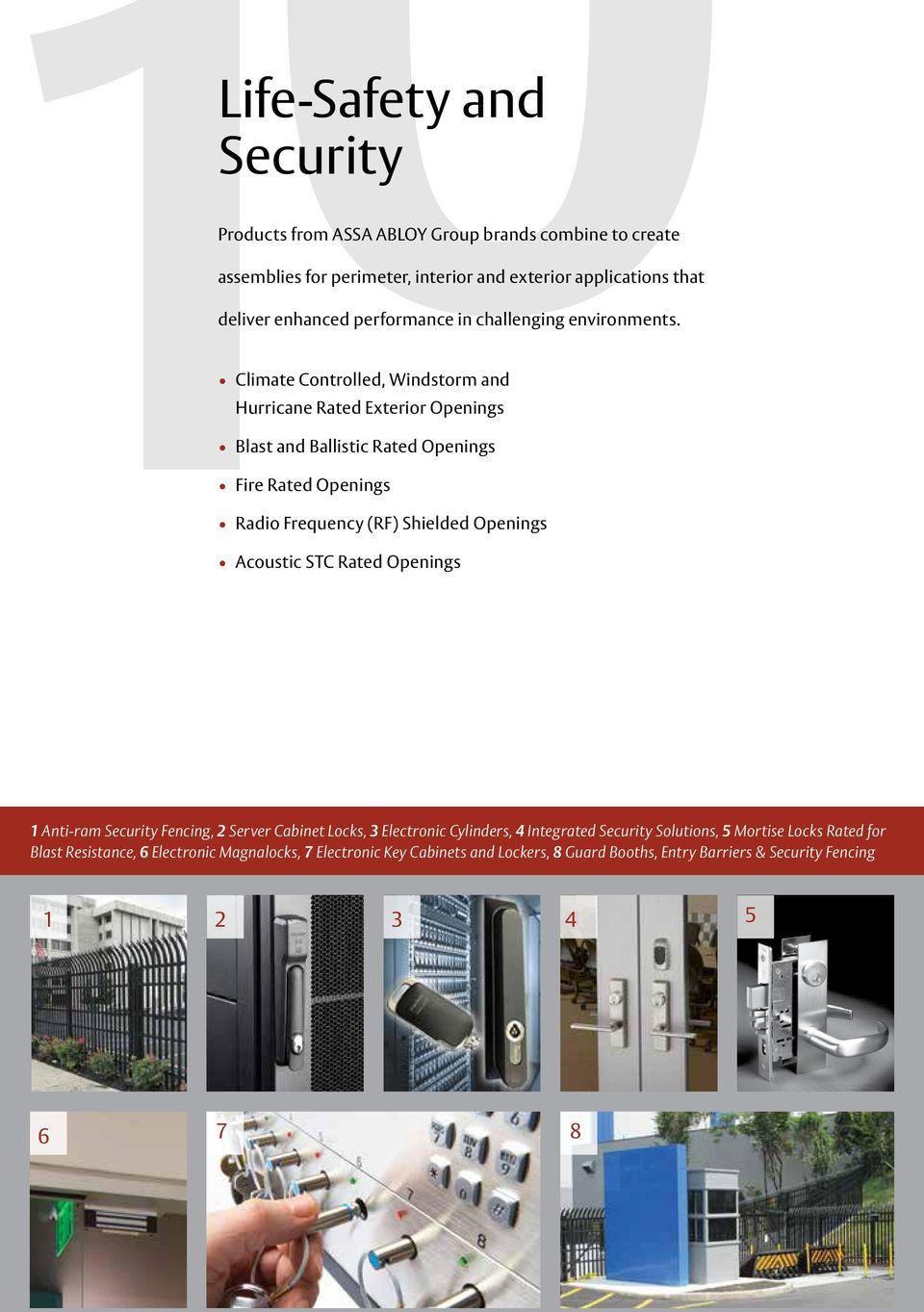 Climate Controlled, Windstorm and Hurricane Rated Exterior Openings Blast and Ballistic Rated Openings Fire Rated Openings Radio Frequency (RF) Shielded Openings