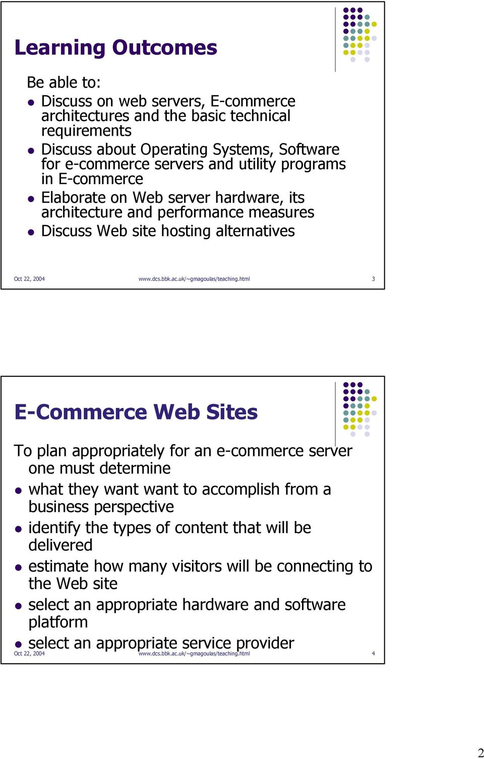 html 3 E-Commerce Web Sites To plan appropriately for an e-commerce server one must determine what they want want to accomplish from a business perspective identify the types of content that will be