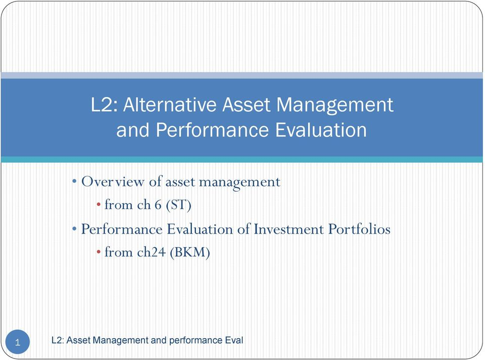 management from ch 6 (ST) Performance