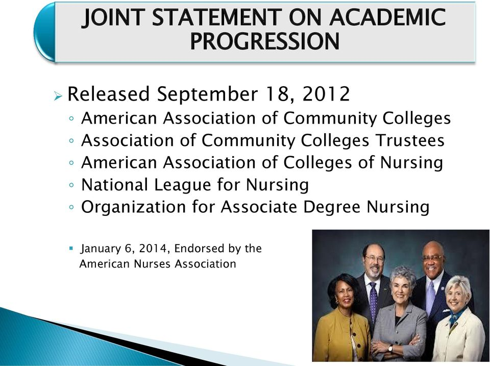 American Association of Colleges of Nursing National League for Nursing