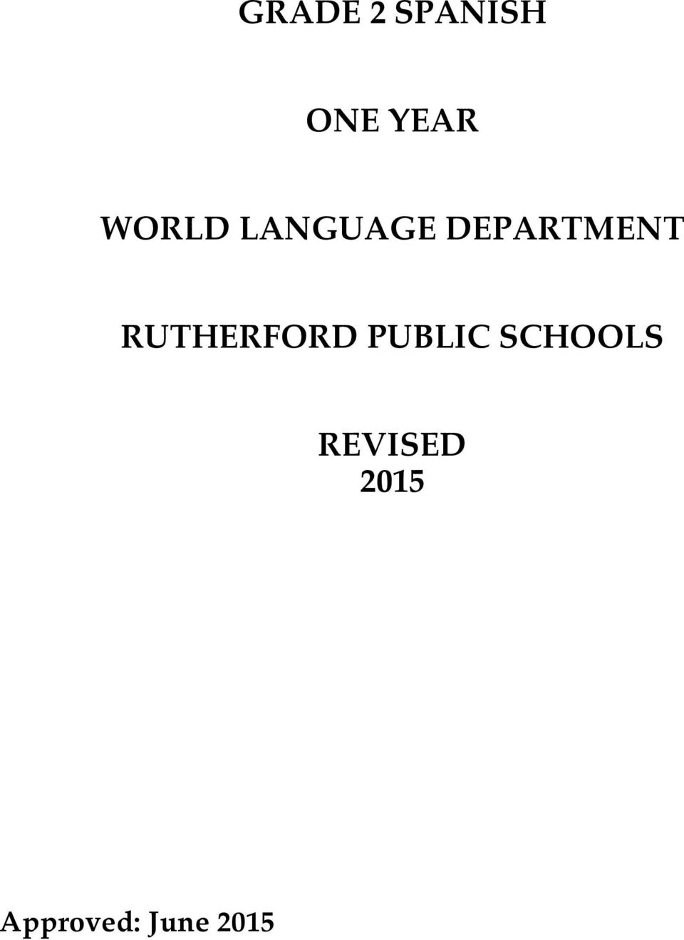 RUTHERFORD PUBLIC SCHOOLS
