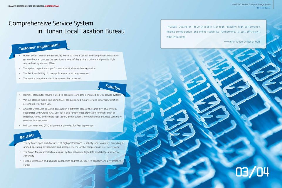 """ Information Center of HLTB Hunan Local Taxation Bureau (HLTB) wants to have a central and comprehensive taxation system that can process the taxation services of the entire province and provide"