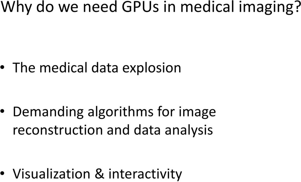algorithms for image reconstruction and