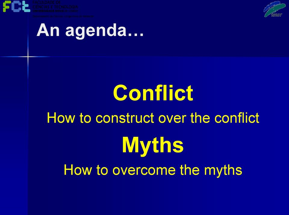 the conflict Myths