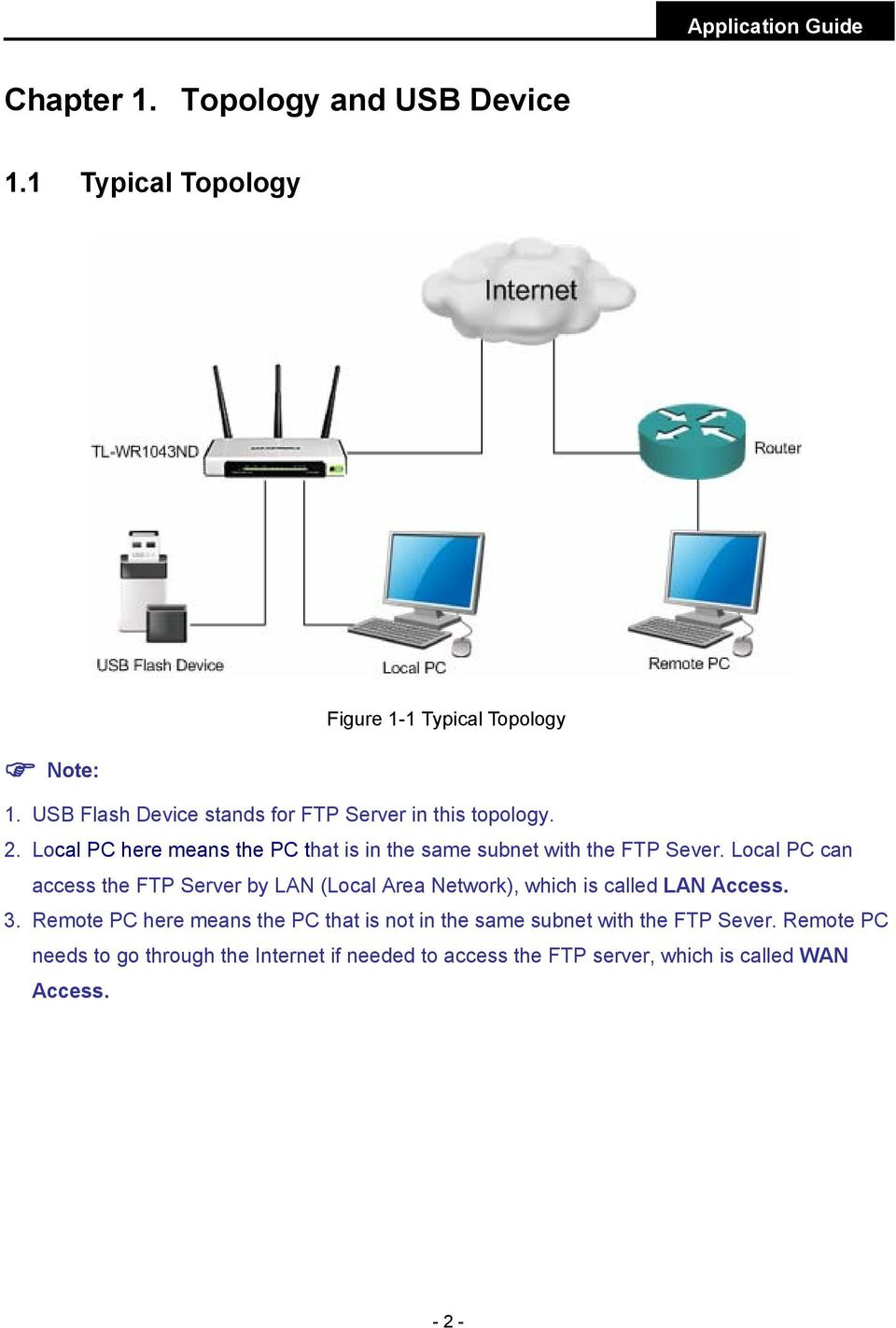 Local PC here means the PC that is in the same subnet with the FTP Sever.