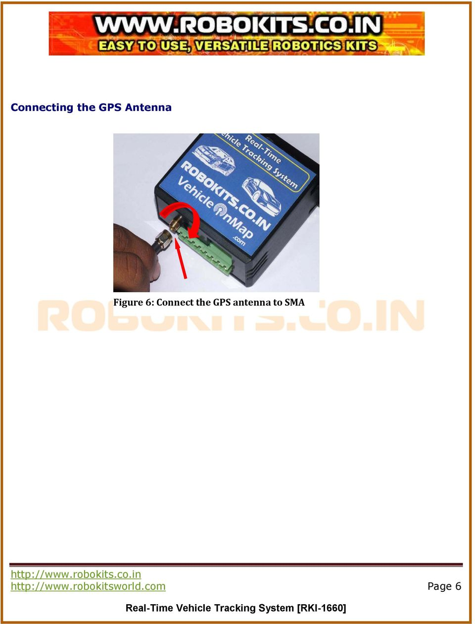 the GPS antenna to SMA