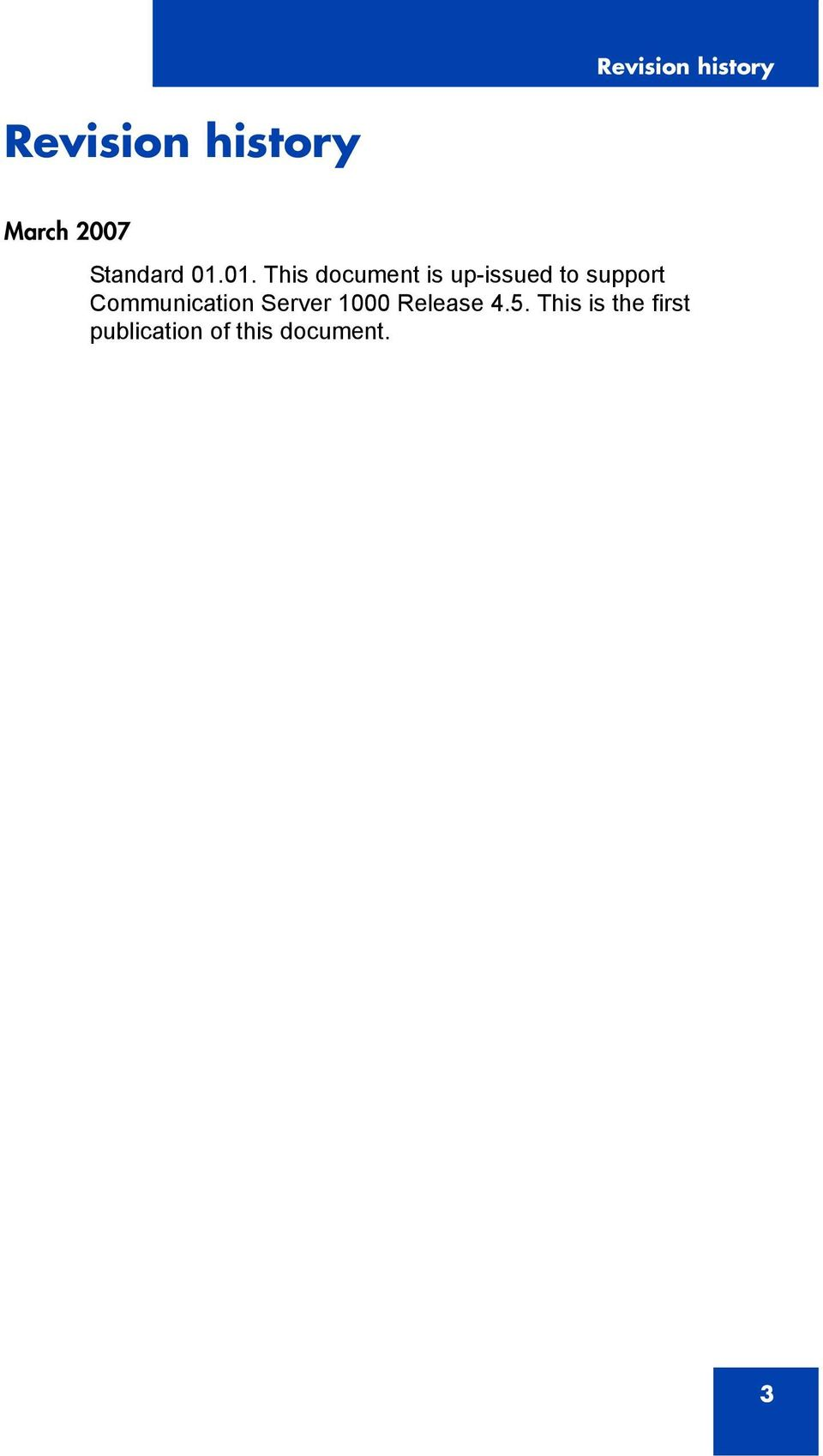01. This document is up-issued to support