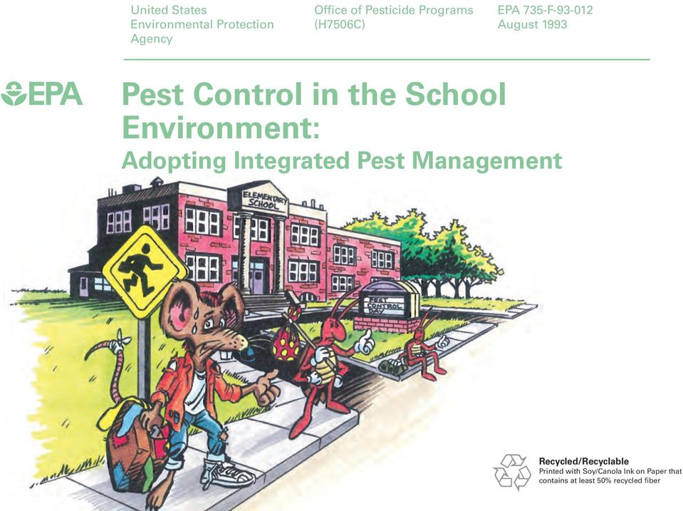 School Environment: Adopting Integrated Pest Management