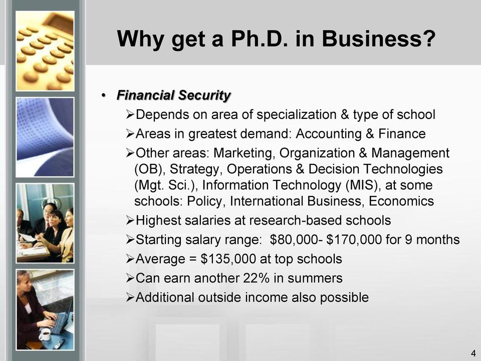 Marketing, Organization & Management (OB), Strategy, Operations & Decision Technologies (Mgt. Sci.