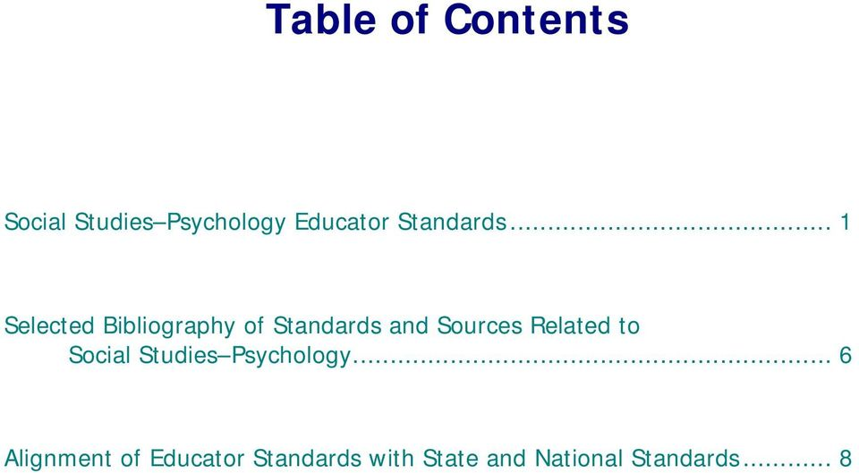 .. 1 Selected Bibliography of Standards and Sources