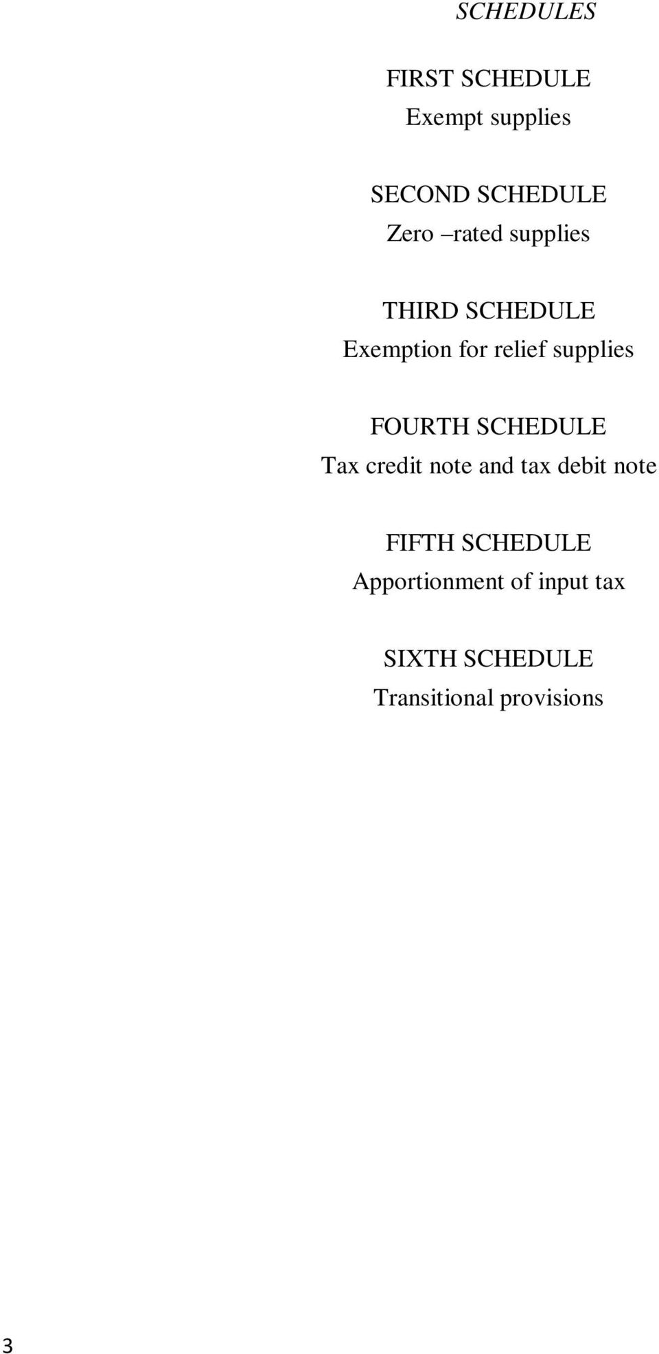 FOURTH SCHEDULE Tax credit note and tax debit note FIFTH