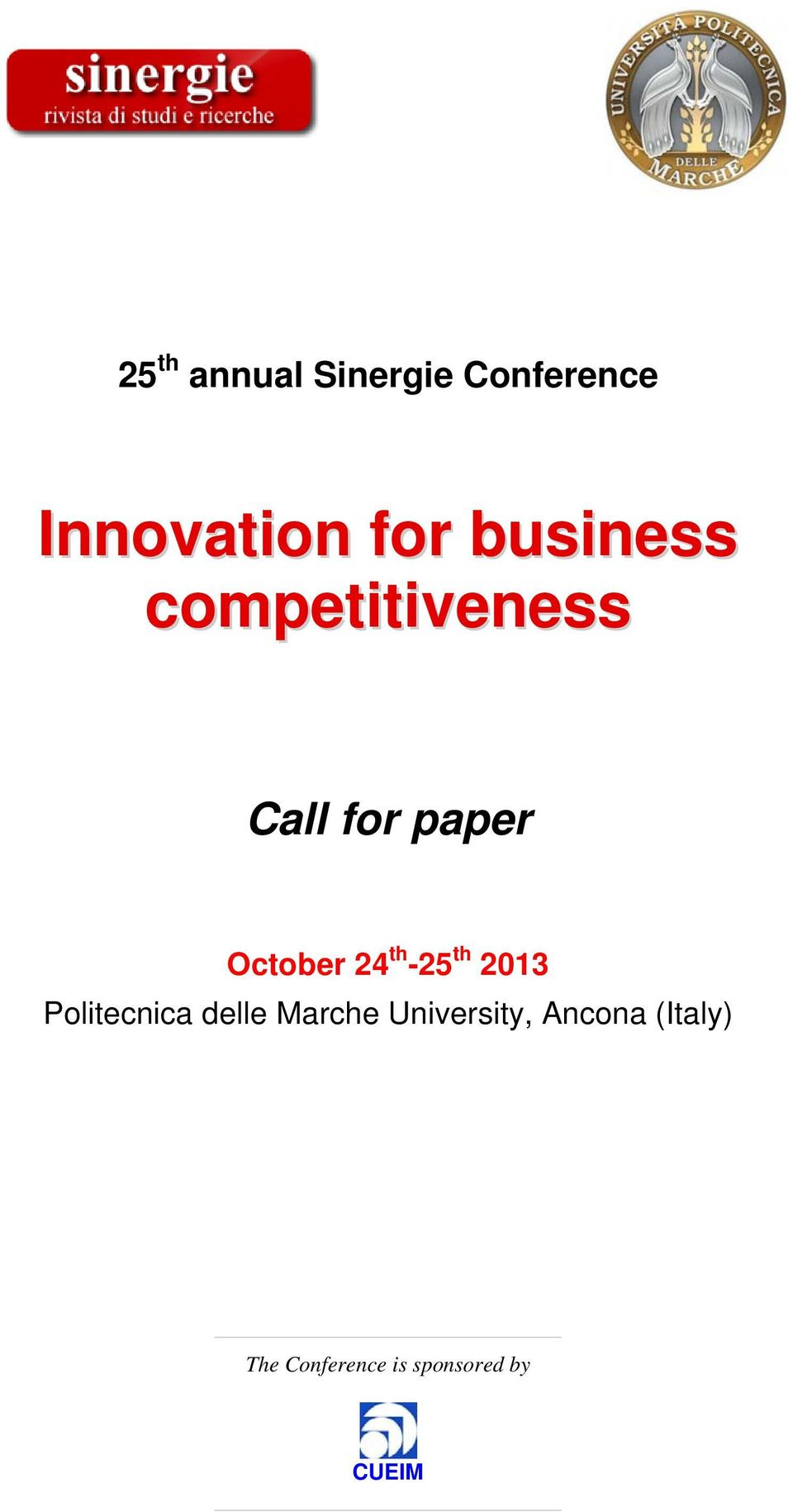 October 24 th -25 th 2013, Ancona