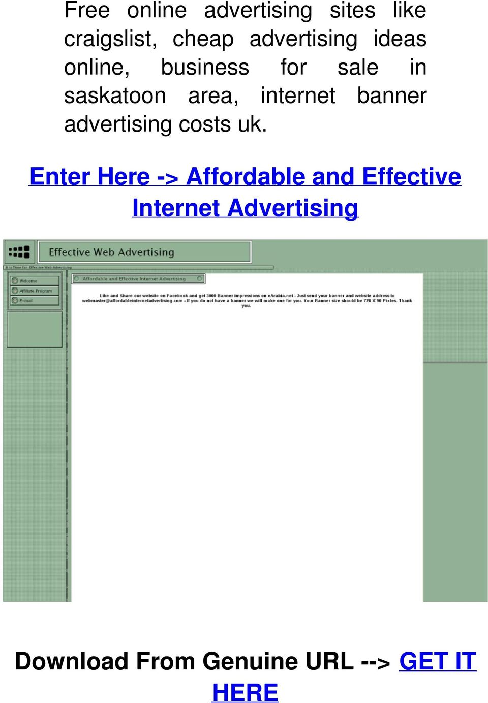 internet banner advertising costs uk.