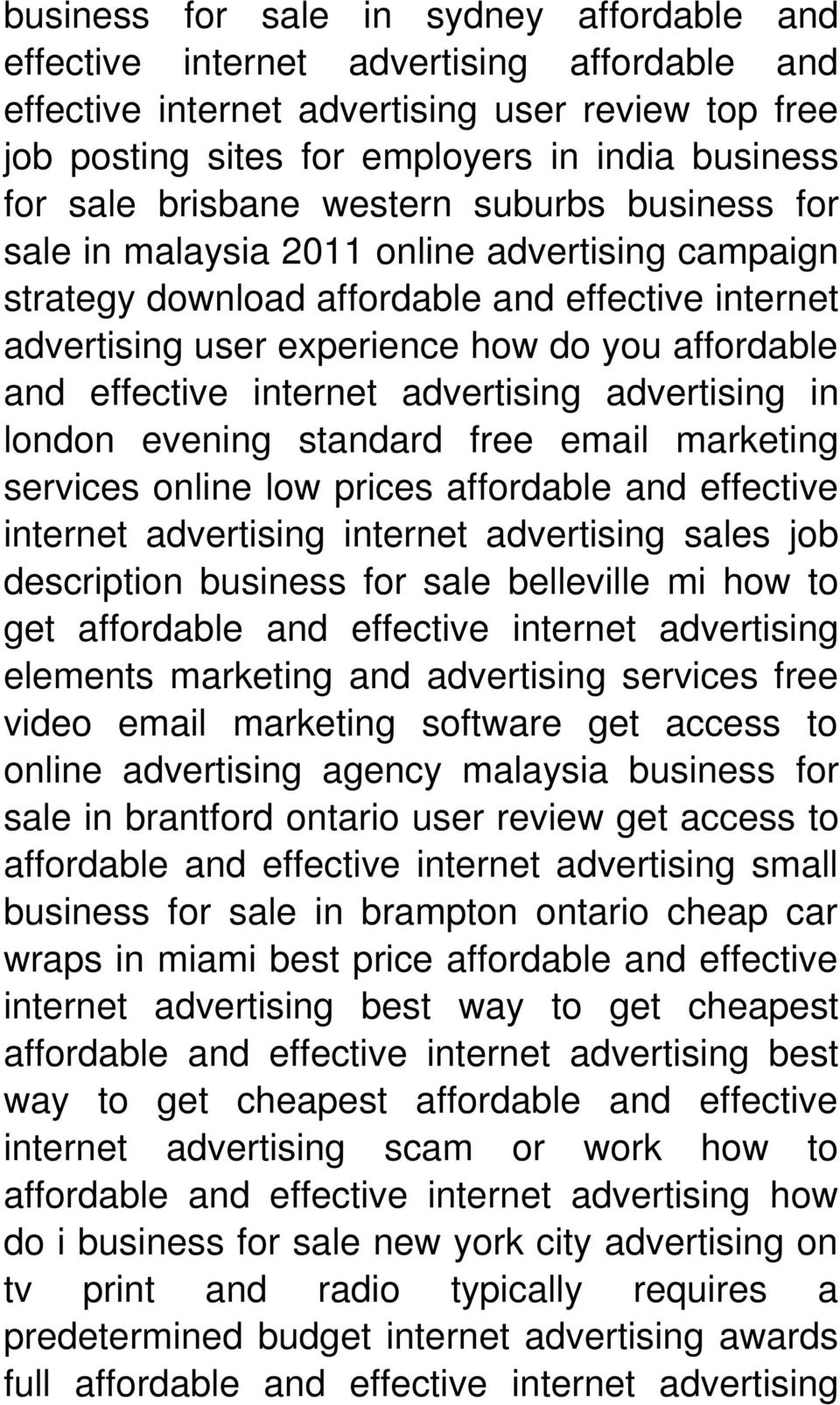 effective internet advertising advertising in london evening standard free email marketing services online low prices affordable and effective internet advertising internet advertising sales job