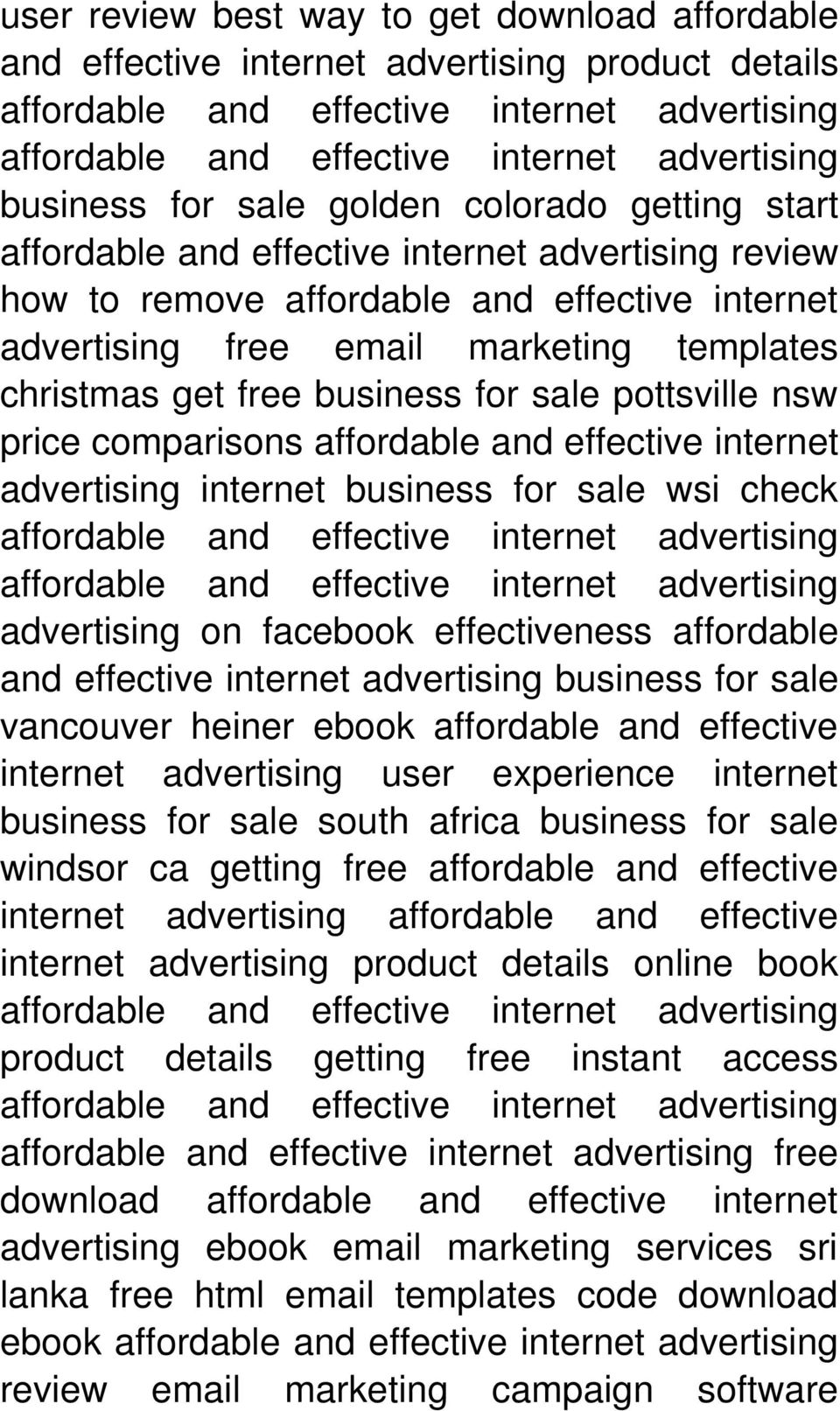 check advertising on facebook effectiveness affordable and effective internet advertising business for sale vancouver heiner ebook affordable and effective internet advertising user experience