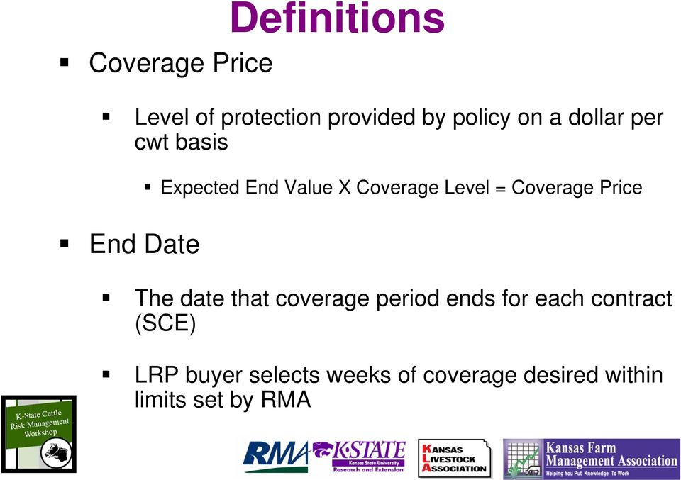 Price End Date The date that coverage period ends for each contract