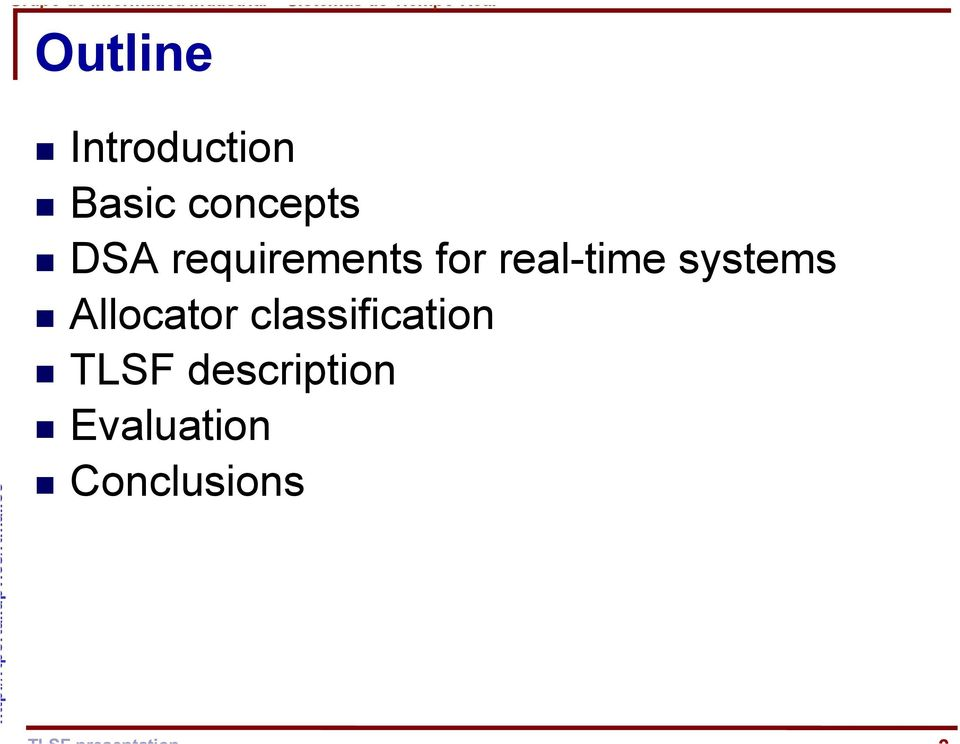 real-time systems Allocator
