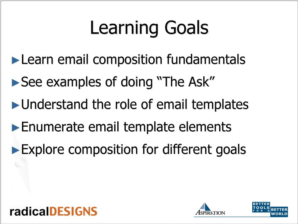 Understand the role of email templates Enumerate