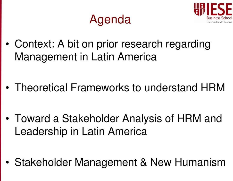 understand HRM Toward a Stakeholder Analysis of HRM and