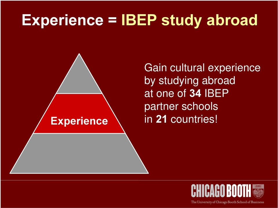 experience by studying abroad at
