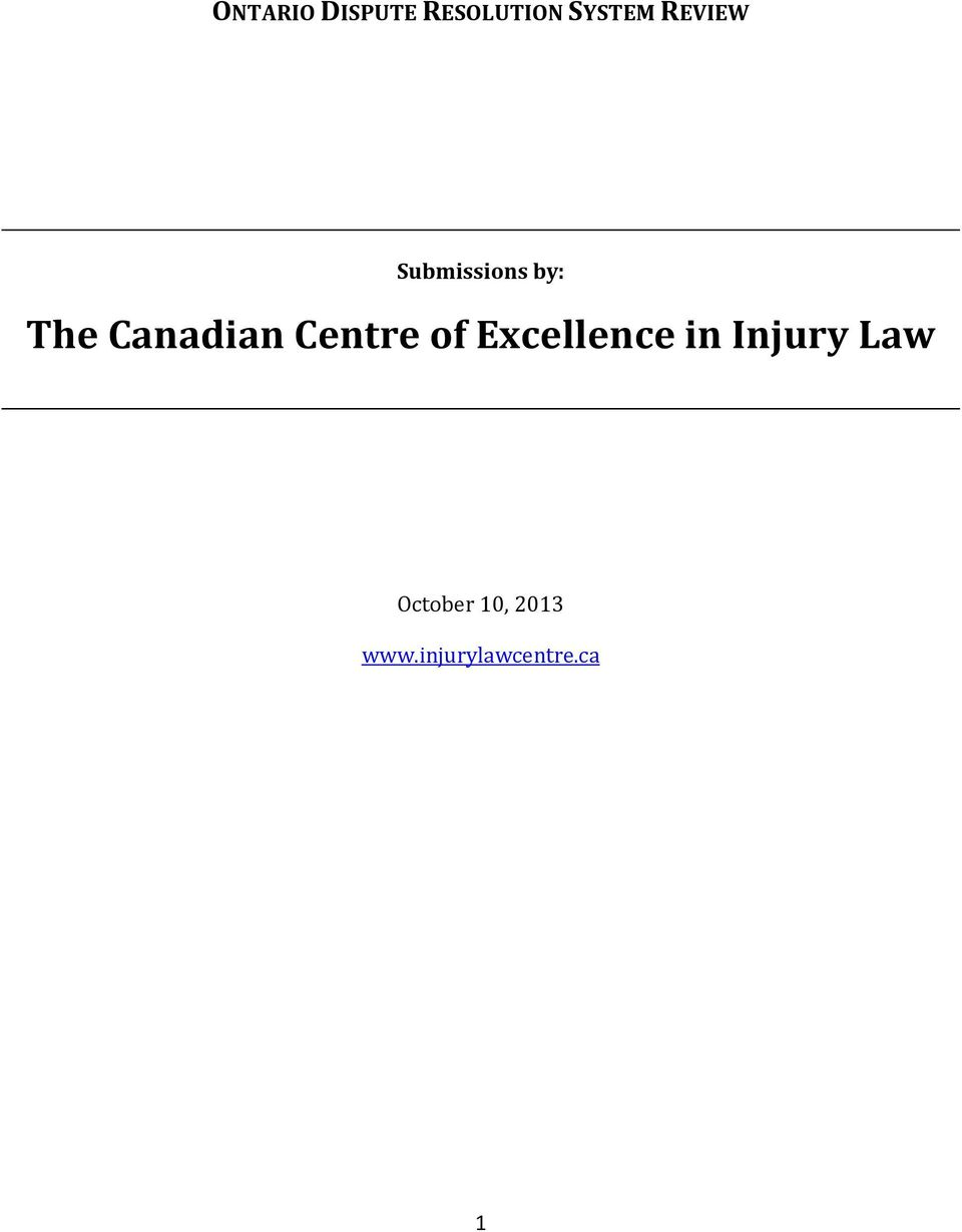 Centre of Excellence in Injury Law