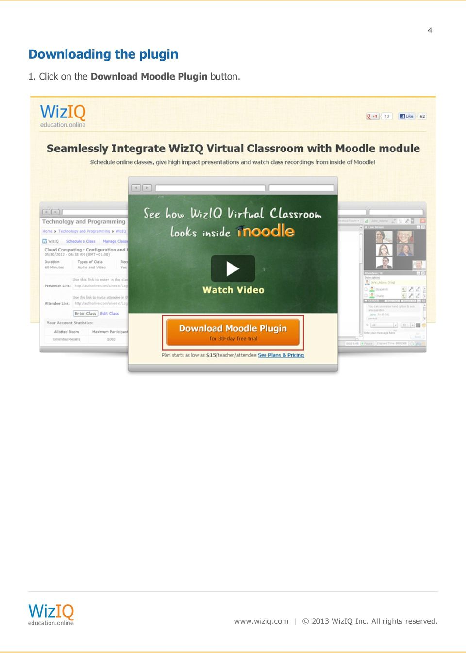 Plugin button. www.wiziq.