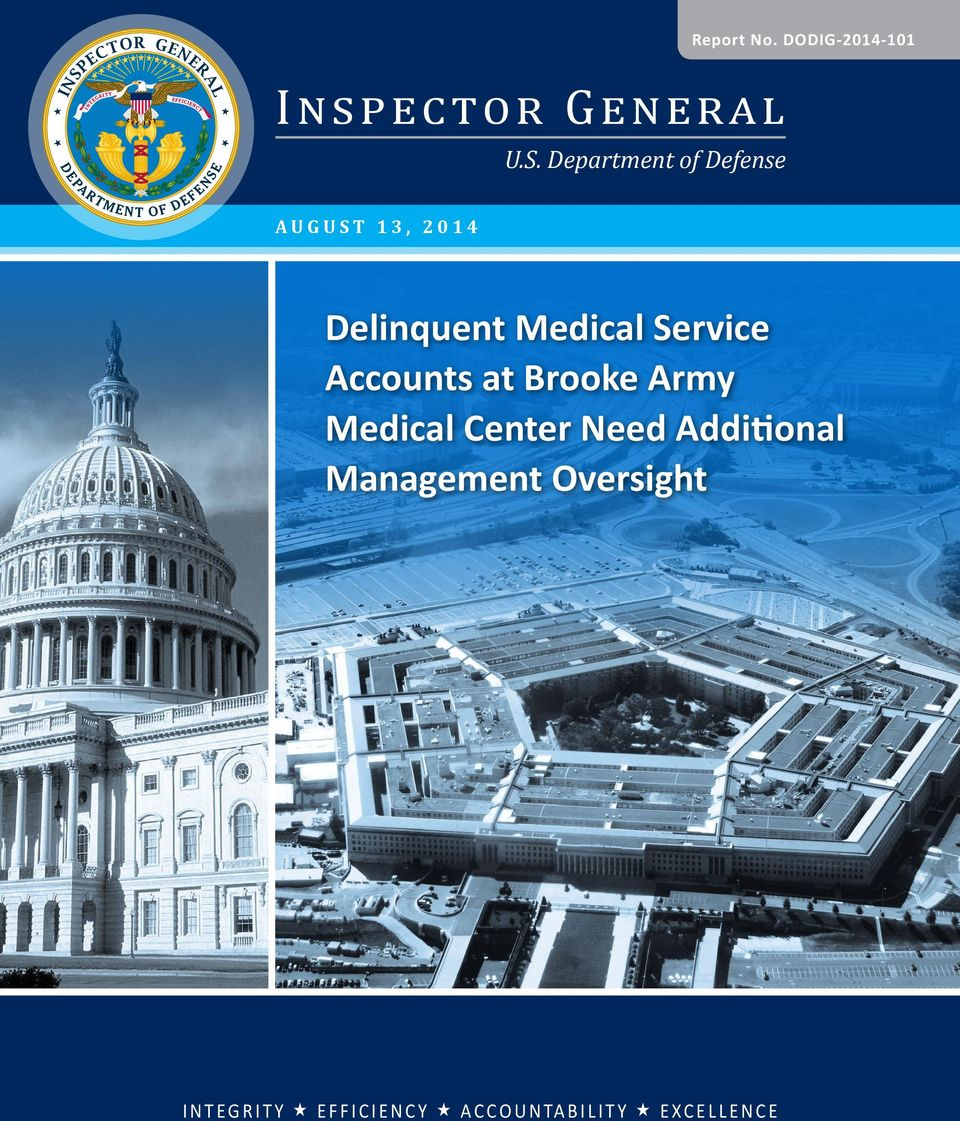 Accounts at Brooke Army Medical Center Need Additional Management