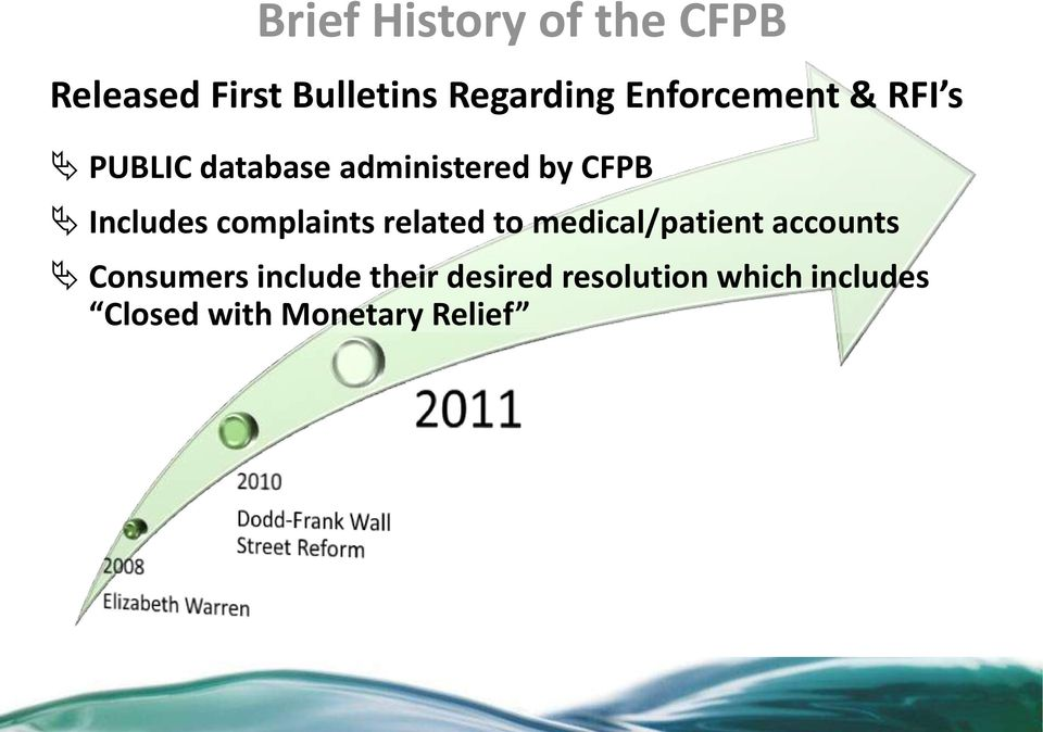 Includes complaints related to medical/patient accounts