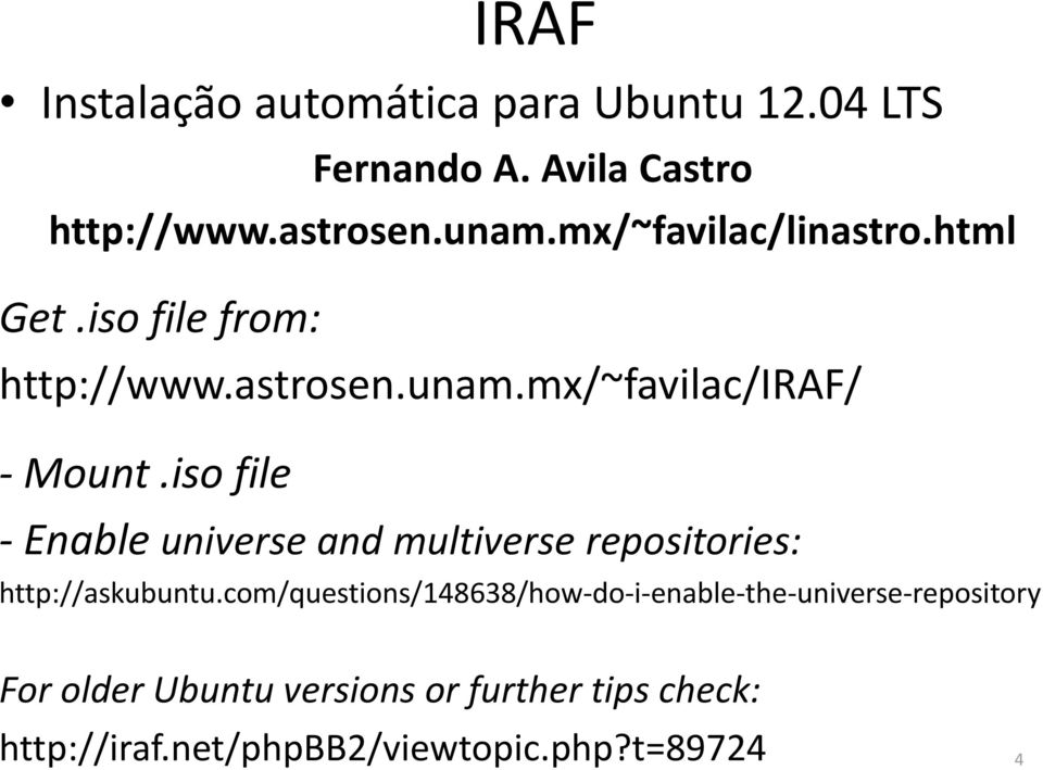 iso file - Enable universe and multiverse repositories: http://askubuntu.