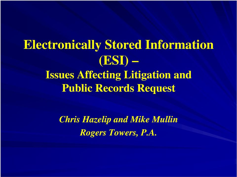 and Public Records Request Chris