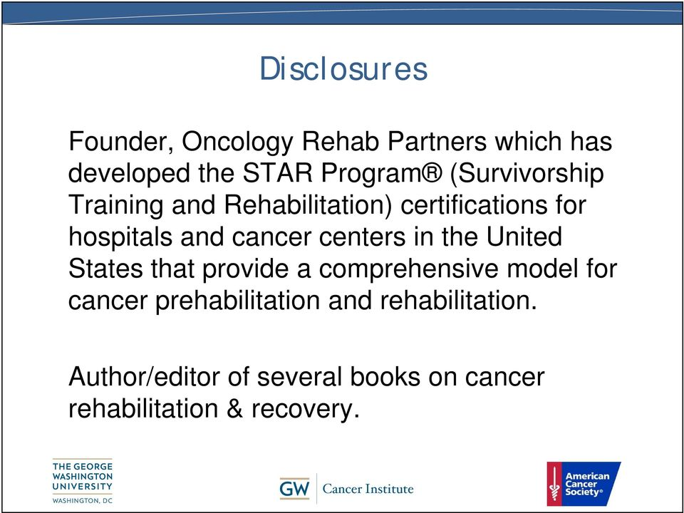 centers in the United States that provide a comprehensive model for cancer