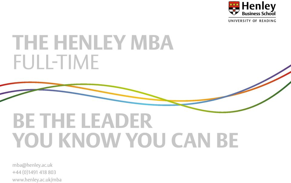 BE mba@henley.ac.