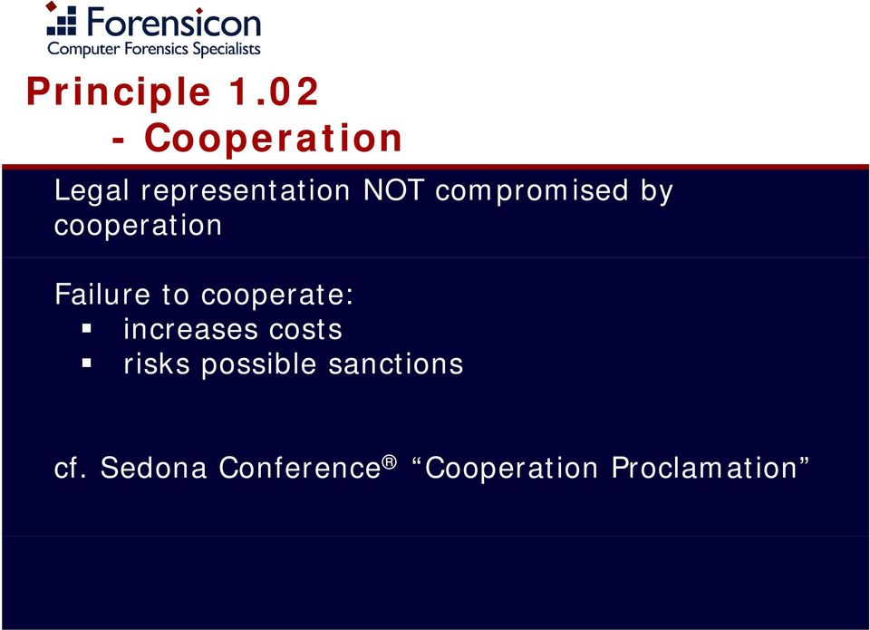 compromised by cooperation Failure to