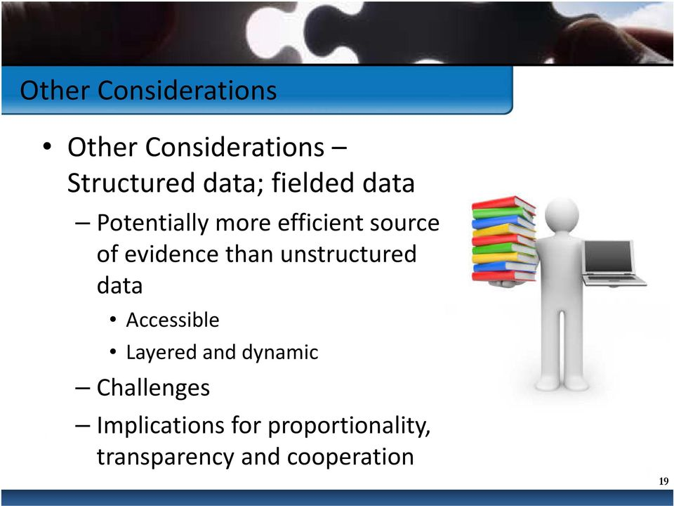 than unstructured data Accessible Layered and dynamic