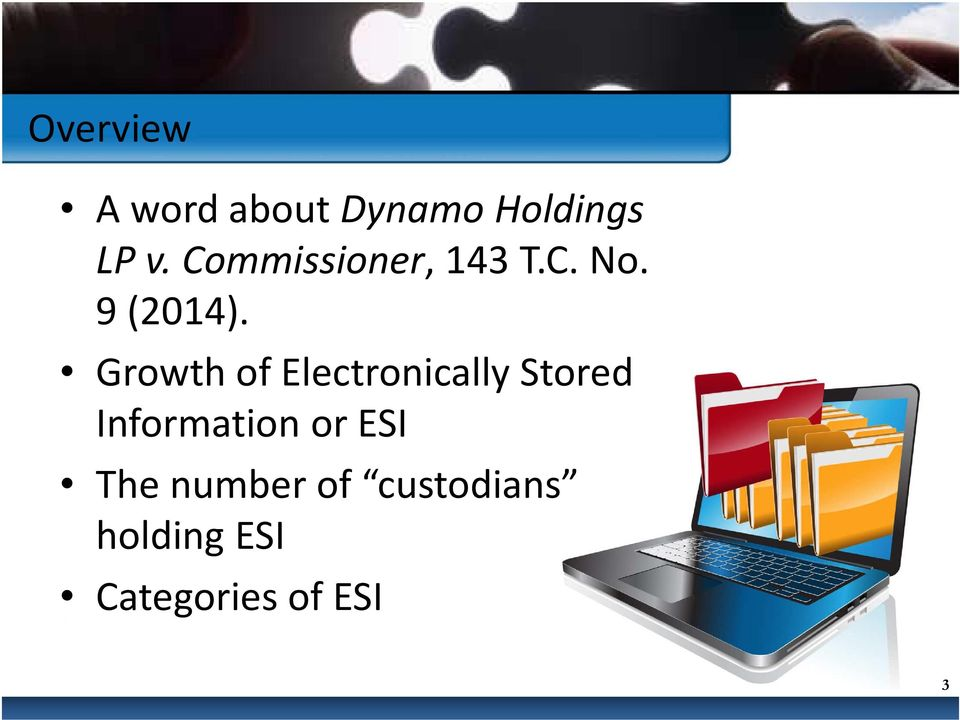 Growth of Electronically Stored Information or