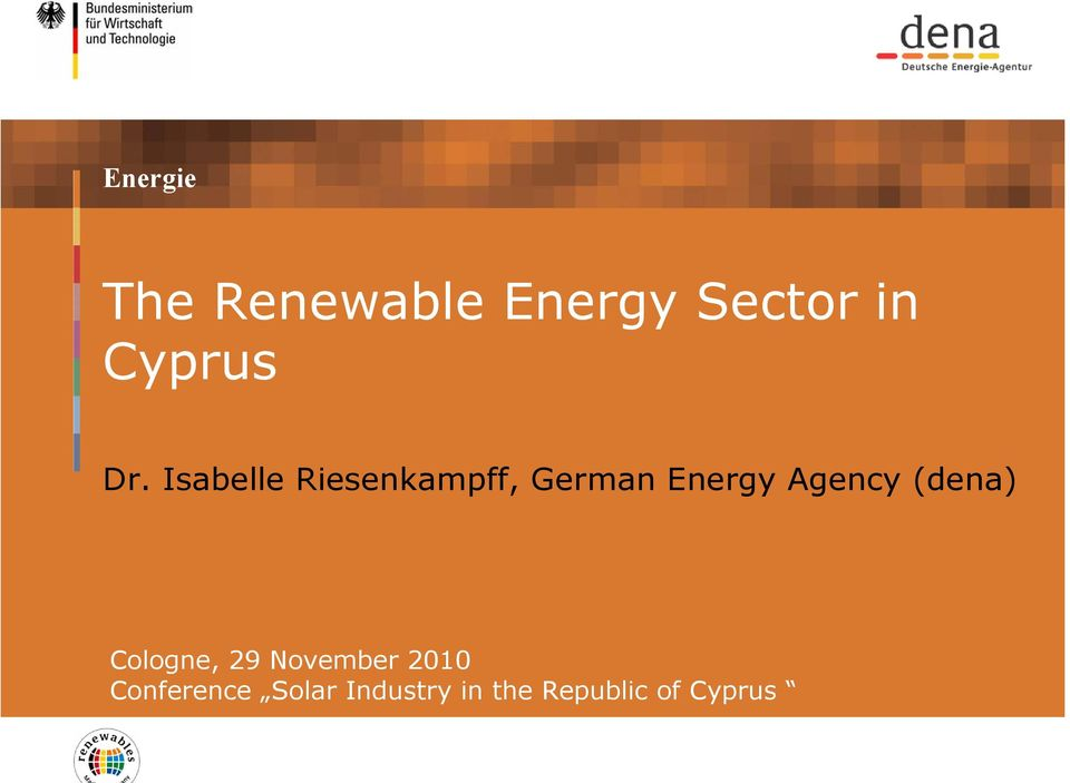 Isabelle Riesenkampff, German Energy Agency